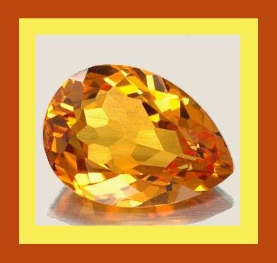 MADEIRA CITRINE 1.20ct Pear 8.36x6.26mm Orange Faceted Loose Gemstone 100% Real Natural Genuine