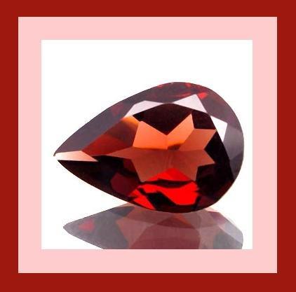 Rhodolite GARNET 0.75ct Pear 7x4mm Purple Red Faceted Loose Gemstone - 100% Real Natural Genuine