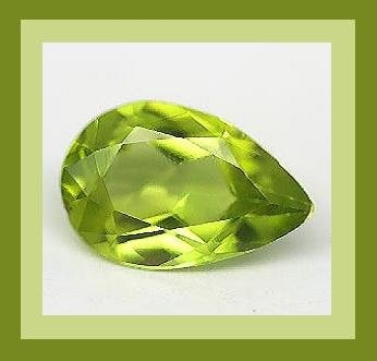 PERIDOT 0.90ct Pear 8x5mm Green Faceted Natural Loose Gemstone