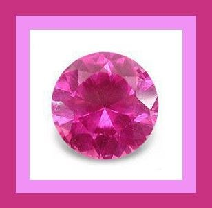 PINK TOURMALINE 0.40ct Round Brilliant 4.4mm Faceted Gemstone - 100% Real Natural Genuine Authentic!