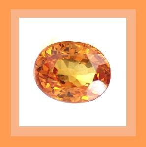 Orange SAPPHIRE 0.25ct Oval 4.2x3.2mm Faceted Gemstone - 100% Real, Natural, Genuine, and Authentic!