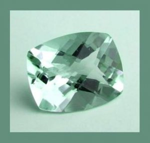 PRASIOLITE 2.00ct Cushion 8.5x6.4mm COLOR CHANGE Faceted Gem 100% Real Natural Genuine Authentic!