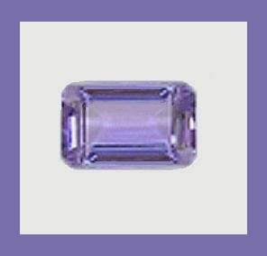 TANZANITE 0.55ct Emerald Cut 6x4mm Loose Gemstone - 100% Natural Real Authentic Genuine!