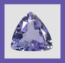 TANZANITE 0.55ct Trillion Cut 5.5x5.5mm Loose Gemstone - 100% Natural Real Authentic Genuine!