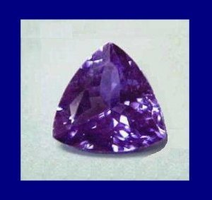 TANZANITE 0.60ct Trillion 5.5x5.5mm Loose Gemstone - 100% Natural Real Authentic Genuine!
