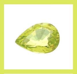 SPHENE 0.60ct Pear Cut 6.60x4.70mm Gemstone - 100% Natural Real Authentic Genuine!