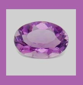 AMETHYST 0.75ct Oval 6.38x4.58mm Grape Purple Faceted Loose Gemstone - 100% Real Natural Genuine