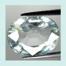 AQUAMARINE 2.35ct Oval Cut 9x6mm Light Blue Faceted Loose Gemstone