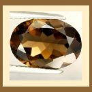 SMOKY QUARTZ 1.37ct Oval Cut 8x6mm Brown Faceted Loose Gemstone