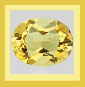 CITRINE 1.46ct Oval Cut 7x5mm Yellow Faceted Natural Loose Gemstone