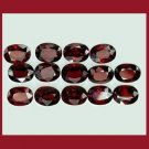 18.05ctw Lot of 14 RHODOLITE GARNET Oval 8X5mm Faceted Natural Loose Gemstones