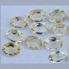 5.86ctw Lot of 10 GOLDEN YELLOW BERYL Oval 6X4mm Faceted Natural Loose Gemstones