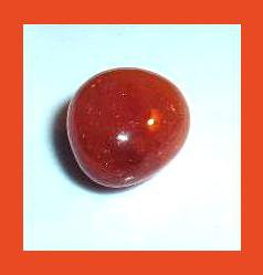 17.71cts Orange Brown CARNELIAN Tumbled and Polished Natural Loose Gemstone
