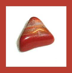 4.97cts Orange BANDED AGATE Triangle Tumbled and Polished Natural Loose Gemstone