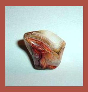 6.94ct BANDED AGATE Tumbled and Polished Natural Loose Gemstone