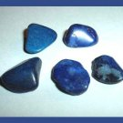 39.63ctw Lot of 5 Dark Blue AGATES Tumbled and Polished Natural Loose Gemstones