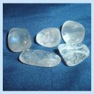 45.39ctw Lot of 5 Rock Crystal CLEAR QUARTZ Tumbled and Polished Natural Loose Gemstones