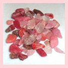 32.62ctw Lot of Pink and Red Mini QUARTZ CRYSTALS and JASPER Tumbled and Polished Loose Stones