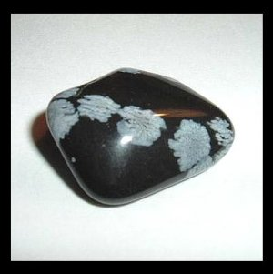 28.80ct SNOWFLAKE OBSIDIAN Tumbled and Polished Natural Loose Gemstone
