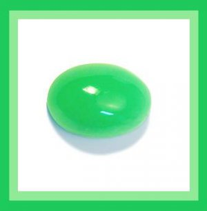 0.80ct Emerald Cabochon 7x5mm Oval Simulated Loose Gemstone