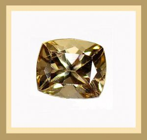 4.18ct Champagne TOURMALINE Cushion Cut 12x10mm Faceted Natural Loose Gemstone