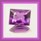 2.44ct Violet Purple AMETHYST Rectangle Cut 9x7mm Faceted Natural Loose Gemstone