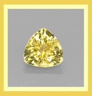 0.78ct GOLDEN YELLOW BERYL Trillion 6mm Faceted Natural Loose Gemstone