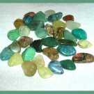 258.59ctw Mixed Lot of Green Tumbled and Polished Gemstones