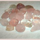 202.80ctw Mixed Lot of Pink Quartz Tumbled and Polished Gemstones