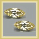1.34ctw Pair of 2 GOLDEN YELLOW BERYL Marquise 9x4mm Faceted Natural Loose Gemstones