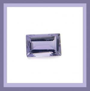 0.84ct IOLITE 6x4mm Emerald Cut Faceted Natural Loose Gemstone