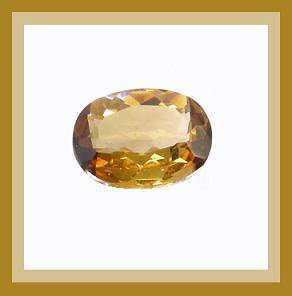0.68ct Golden Brown IMPERIAL TOPAZ 6x4mm Oval Cut Faceted Natural Loose Gemstone