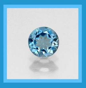 1.20ct LONDON BLUE TOPAZ Round Cut 6mm Faceted Natural Loose Gemstone
