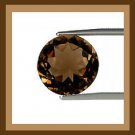 0.95ct SMOKY QUARTZ Round Cut 6mm Faceted Natural Loose Gemstone