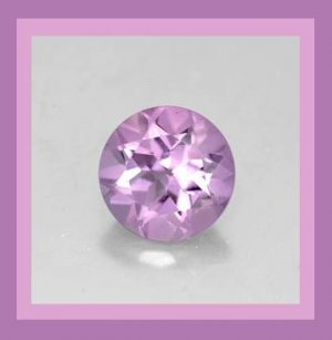 0.91ct Light Purple AMETHYST Round Cut 6.5mm Faceted Natural Loose Gemstone