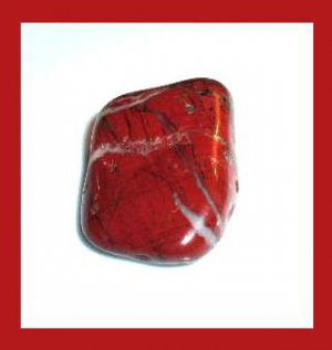 35.09ct RED JASPER Tumbled and Polished Natural Loose Gemstone