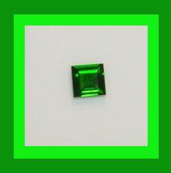 0.45ct CHROME DIOPSIDE Square Cut Dark Green 4x4mm Faceted Natural Loose Gemstone