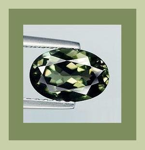 0.66ct Green TOURMALINE Oval Cut 6x4mm Faceted Natural Loose Gemstone