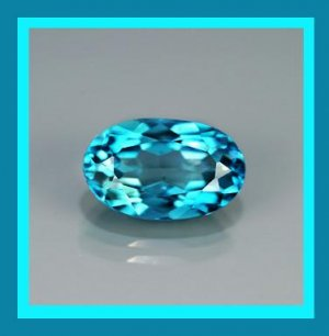 0.47ct BLUE TOPAZ Oval Cut 5.5x3mm Faceted Natural Loose Gemstone