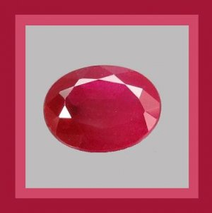 0.87ct Bright Red RUBY Oval Cut 6x4mm Faceted Natural Loose Gemstone