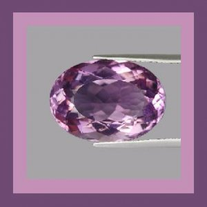 0.97ct Lavender Purple AMETHYST Oval Cut 7x5mm Faceted Natural Loose Gemstone