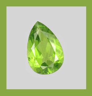 PERIDOT 0.60ct Pear Cut 7x5mm Faceted Natural Loose Gemstone
