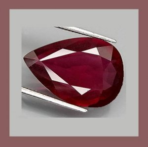 1.19ct Sparkling Red GARNET Pear Cut 8x6mm Faceted Natural Loose Gemstone