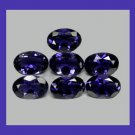 2.10ctw Lot of 7 Sparkling Blue IOLITE Oval Cut 5x3mm Faceted Natural Loose Gemstones