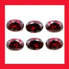 4.80ctw Lot of 6 Sparkling Red GARNET Oval Cut 6x4mm Faceted Natural Loose Gemstones