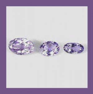0.69ctw Lot of 3 Sparkling TANZANITE Oval Cut Faceted Natural Loose Gemstones