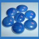 34 Iridescent Dark Blue Round & Oval Flat GLASS MARBLES for Vase Fillers Jewelry Crafts Aquariums