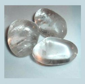 Lot of 3 Clear White Rock Crystal QUARTZ Tumbled and Polished Natural Loose Gemstones