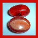 Lot of 2 Bright Orange Brown CARNELIAN Tumbled and Polished Natural Loose Gemstones