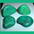 Lot of 4 Dyed GREEN AGATE Tumbled and Polished Natural Loose Stones